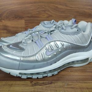 Nike Women's Air Max 98 SE Silver Vast Grey Purple